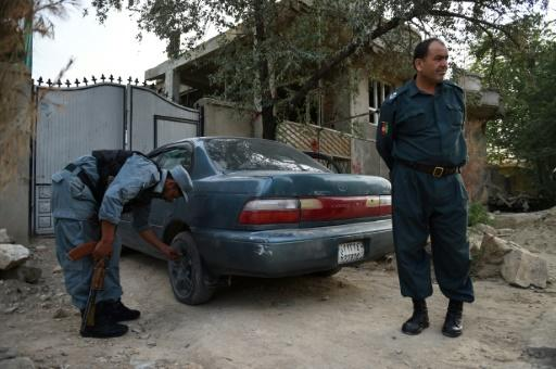 Kabul police tackle car theft... by deflating tyres