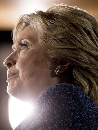 Democratic presidential candidate Hillary Clinton. Picture: AP.