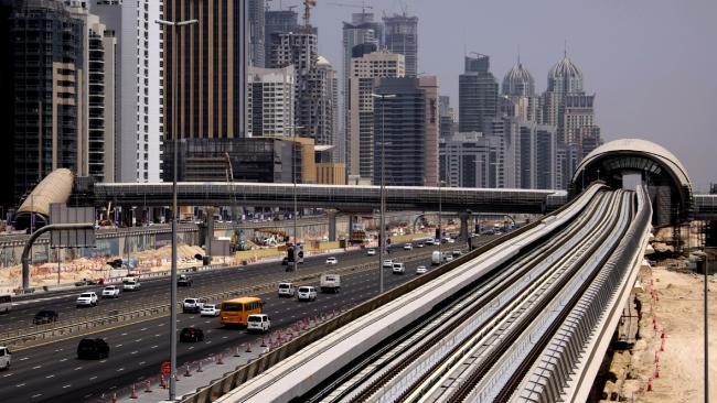 Dubai's Shiekh Zayed Road has seen some crazy accidents over the years. Picture: Karim Sahib/AFP