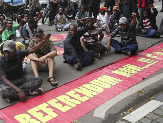 Indonesia is particularly sensitive about the topic of West Papua's independence. Picture: Tatan Syuflana/AP