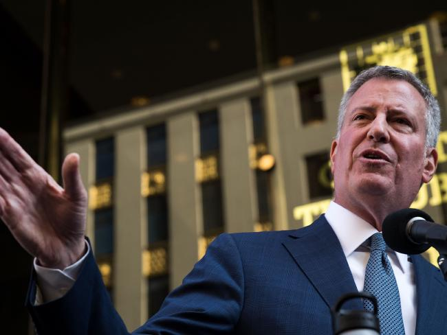 Current New York City mayor Bill de Blasio shas not been overly popular with his constituents. Picture: Drew Angerer/Getty Images/AFP