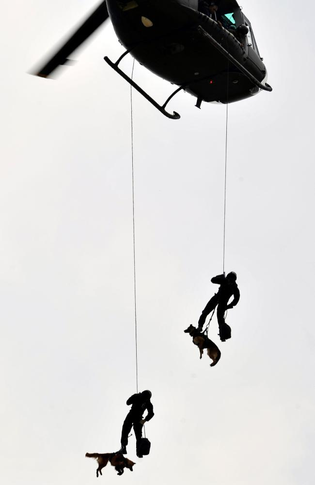 Indonesian Kopassus commandos soldiers had upcoming training exercises with Australian military. Picture: Adek Berry/AFP
