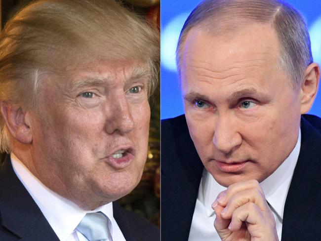 "Donald Trump wants ""a good relationship"" with Russian President Vladimir Putin. Picture: AFP/Don Emmert and Natalia Kolesnikova"