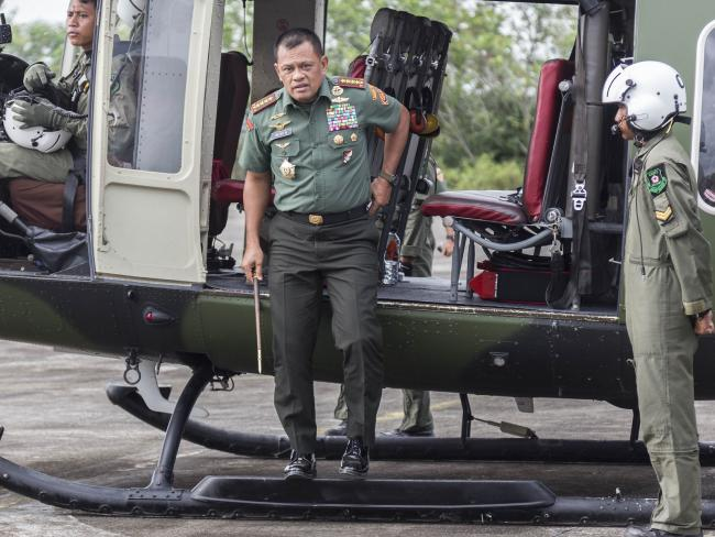 Commander of the Indonesian National Armed Forces, General Gatot Nurmantyo has never hidden his dislike of Australia, claiming we planned to steal his officers. Picture: Donal Husni via Getty Images
