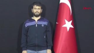 A video broadcast by Turkish media showing a Turkish man, Yusuf Nazik, appearing to confess to his role in the 2013 Reyhanli bombings (12 September 2018)