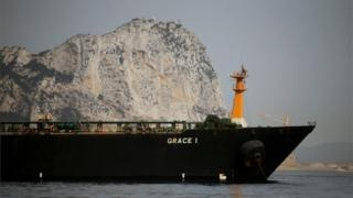 The Grace 1 off Gibraltar