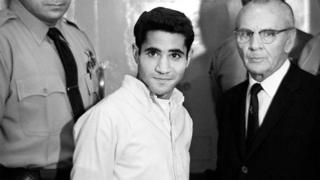 Sirhan Sirhan assassinated Democratic presidential hopeful Robert F Kennedy in 1958